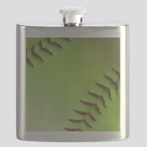 Optic yellow fastpitch softball Flask